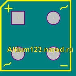 Footprint D-38 for Altium Designer